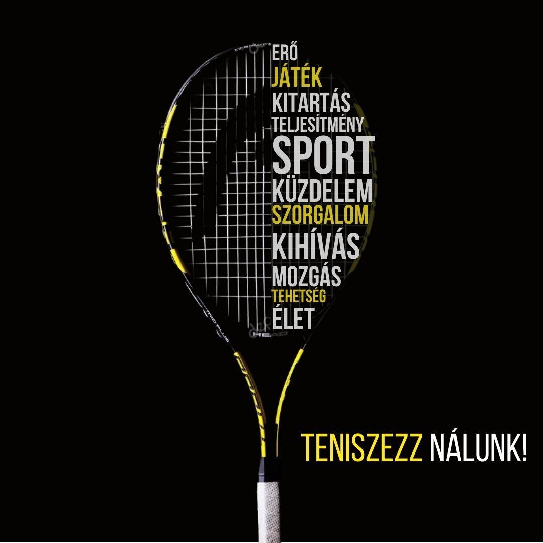 teniszes motivációs poszter